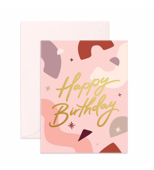Card Happy Birthday Abstract