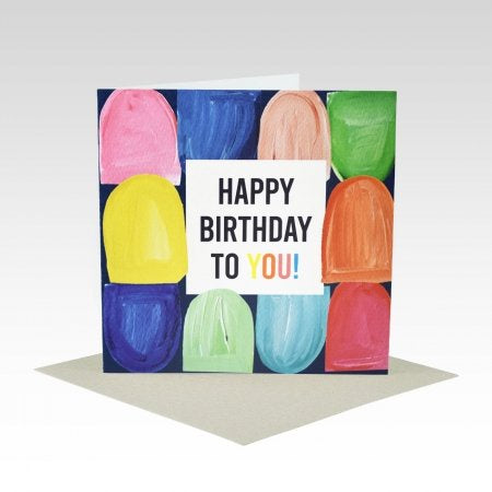 Card Happy Birthday To You Coloured Hills