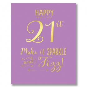 Card 21st Sparkle & Fizz