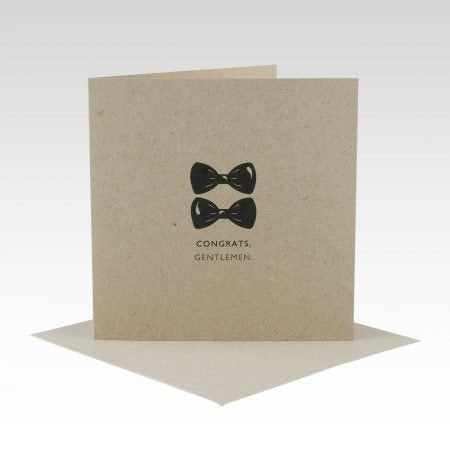 Card Gentlemen Wedding