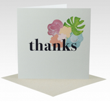 Card Thanks Bold Floral