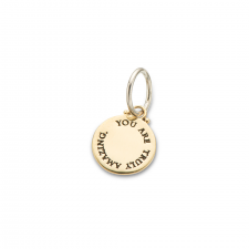 Charm You Are Truly Amazing Silver/Brass