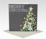 Card Merry Christmas Succulent Tree