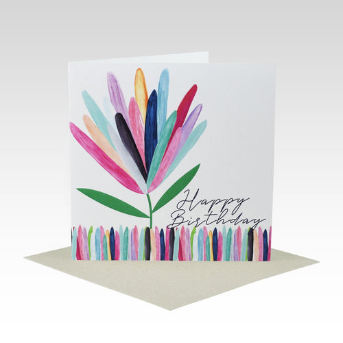 Card Happy Birthday Protea
