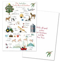 Card Pack 10 The Australian 12 Days Of Christmas