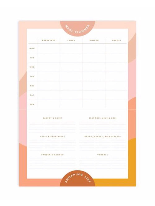 Magnet Meal Planner Notepad A4 Muse