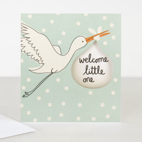 Card Welcome Little One Blue