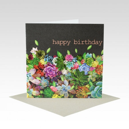 Card Succulent Birthday