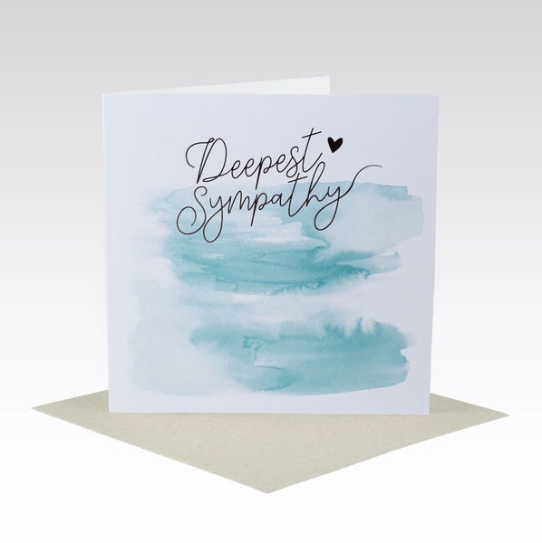 Card Sympathy Watercolour & Rose Foil