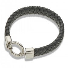 Bracelet Leather Wide Black 20.5cm