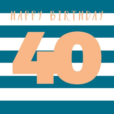 Card 40th Stripes