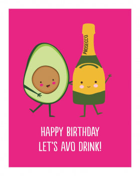 Card Let's Avo Drink