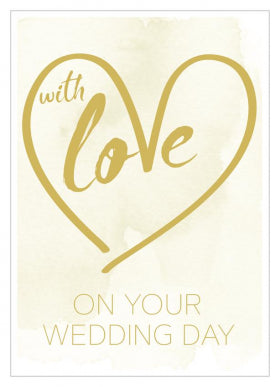 Card With Love On Wedding Day