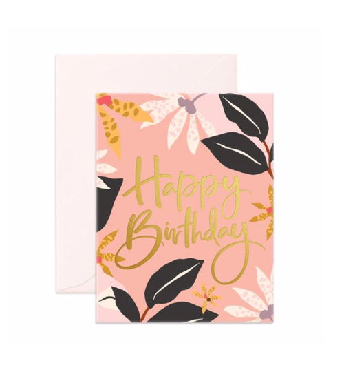 Card Birthday Orchids