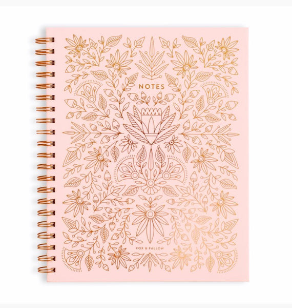 Spiral Large Notebook Rose Quartz