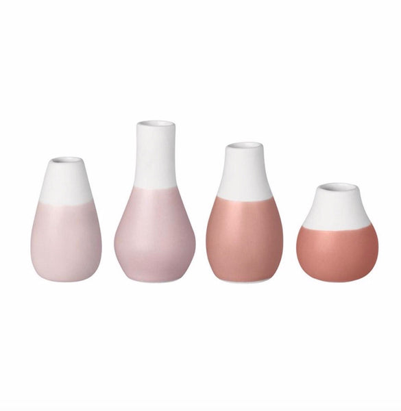 Mini Vase Set Of 4 Pastel