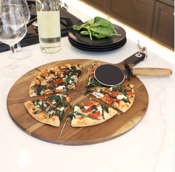 Pizza Cutter & Serving Board