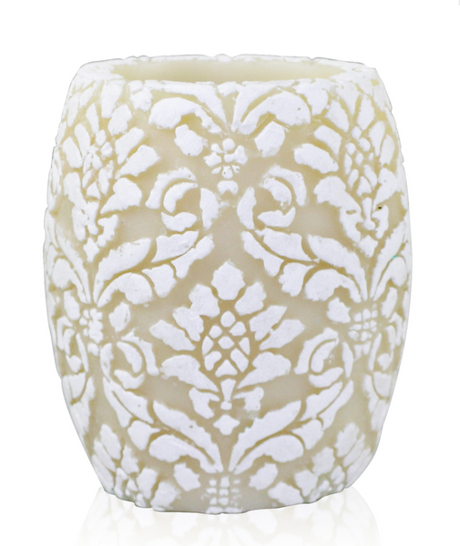 "Pineapple Damask 4"" Hurricane"