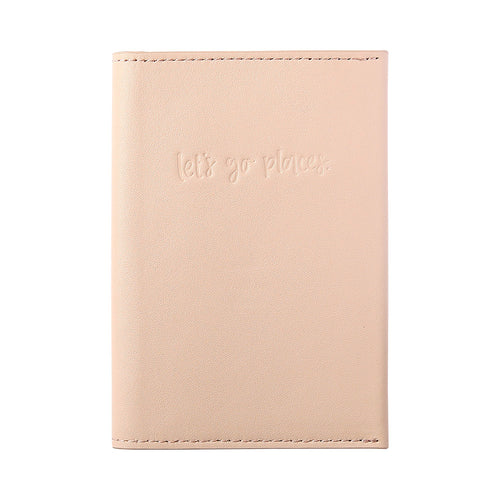 Leather Passport Holder Blush
