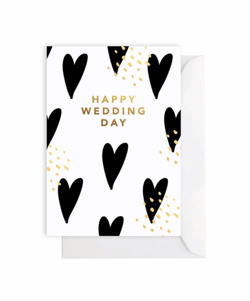 Elm Card Wedding Hearts