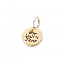 Charm Live Laugh Love Silver/Brass