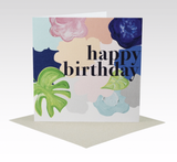 Card Happy Birthday Bold Floral