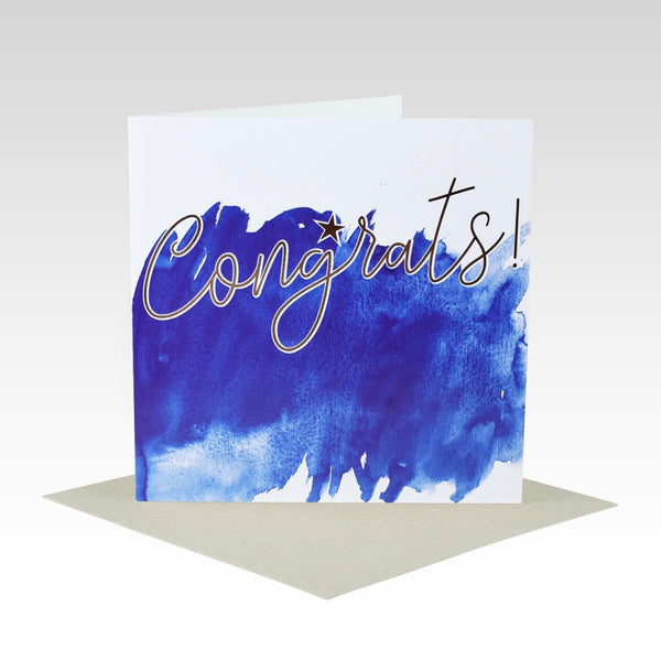 Card Congrats Watercolour + RoseGold