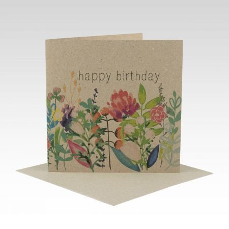 Card Floral Happy Birthday