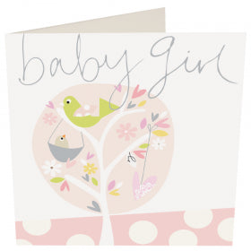 Card Baby Girl Tree