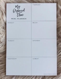 Meal Planner My Organised Chaos
