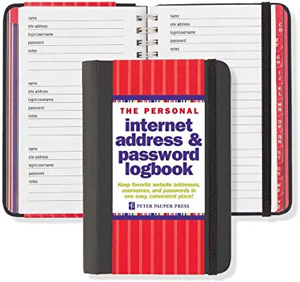 Internet Log Book Personal Size