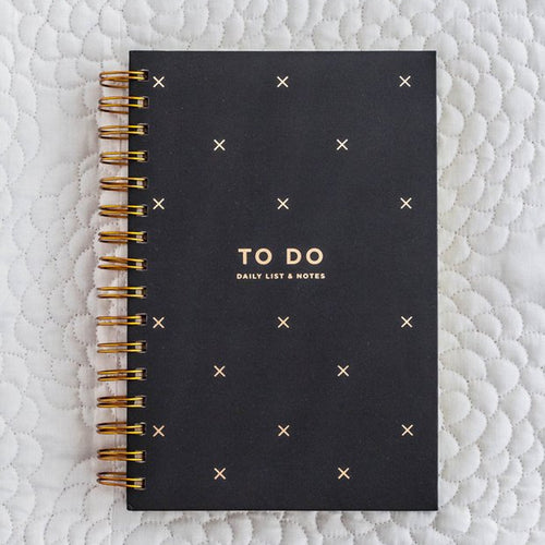 To Do Notebook Black