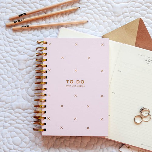 To Do Notebook Blush