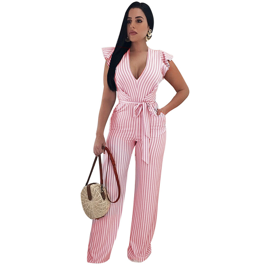 Molly V Neck Jumpsuit