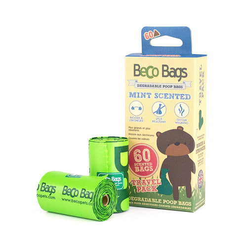 Beco Mint Scented Poop Bags - 60s
