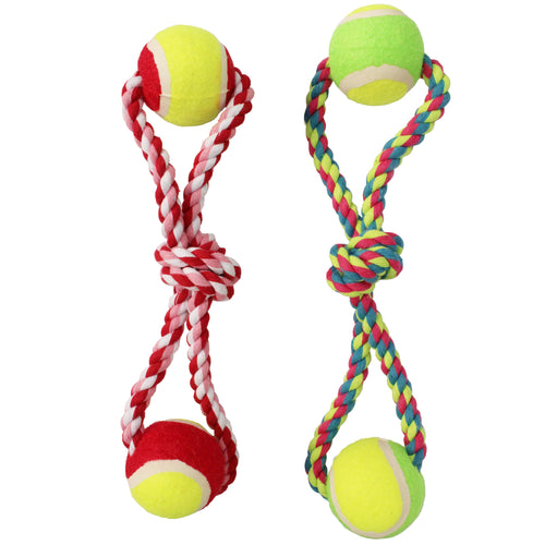 Twin Tennis Ball Dog Toy