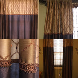 "JCP Rod Pocket Panel Curtains Giovanni Lattice Energy Saving 50""x 84"""