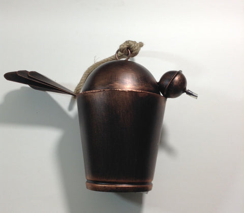 Large Artisan Handmade Outdoor Metal Bird Bell Burnished Loud Cow Bell