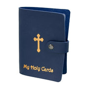 Holy Card Collection Book - Dark Blue Leatherette