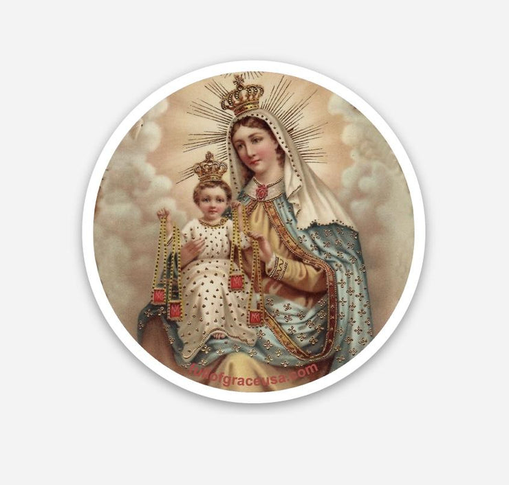 Our Lady of Mt. Carmel & Jesus Sticker Decal