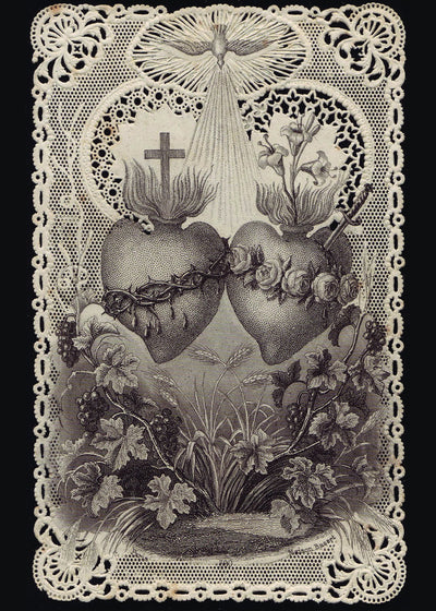 Sacred Heart of Jesus/Immaculate Heart of Mary Print 5X7