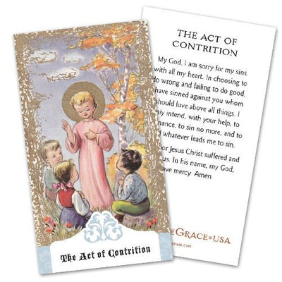 The Act of Contrition Holy Cards