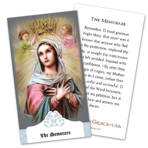The Memorare Holy Cards