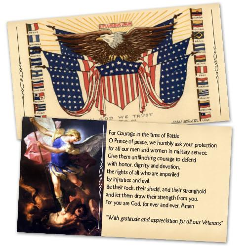In God We Trust to Save America Holy Cards