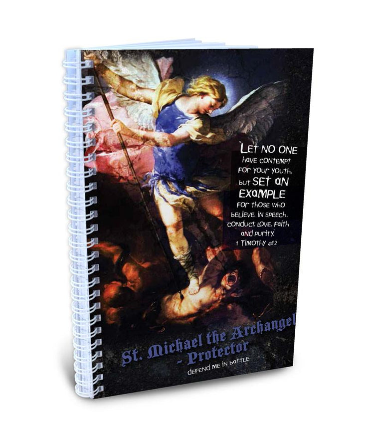 Teen Chastity Boy -  St. Michael the Archangel Writing Journal