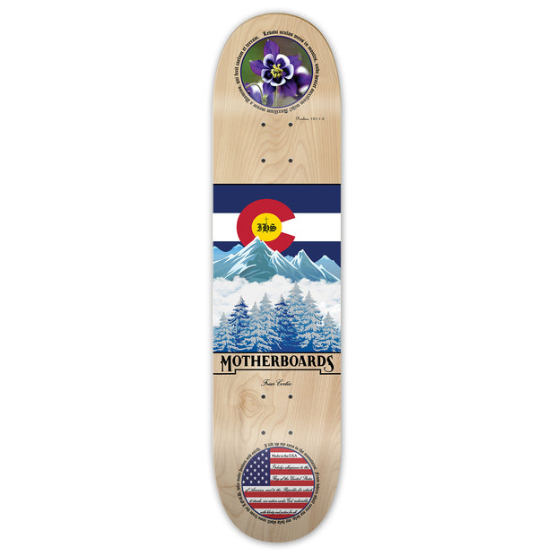 """Colorado"" by the Skating Friar.  8.25 (Deck)  LATIN LINE"