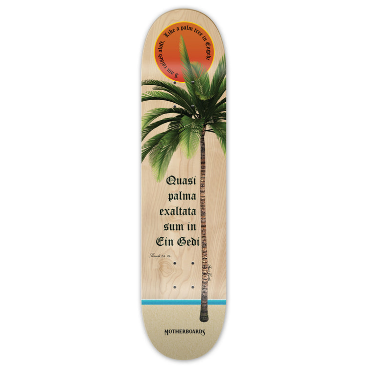 """Palm Tree"" by the Skating Friar.  8 (Deck)  LATIN LINE"
