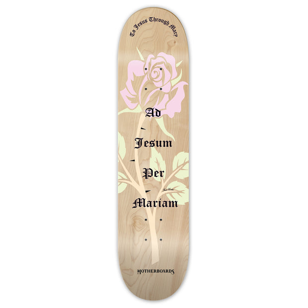 """Rose"" by the Skating Friar.  8.25 (Deck)  LATIN LINE"