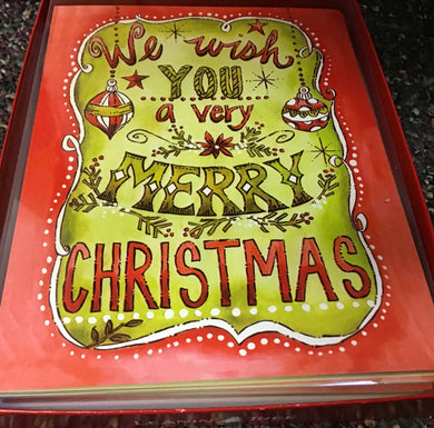 We wish you a very Merry Christmas 12 cards and envelopes..... Christmas card