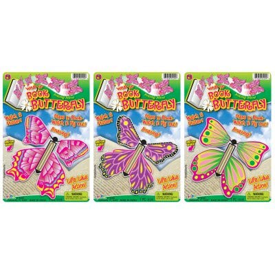 JaRu Wind Up Book Butterfly Colors May Vary